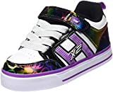 Heelys Bolt Plus, Zapatillas Unisex niños, (White/Black Rainbow Hearts), 31 EU