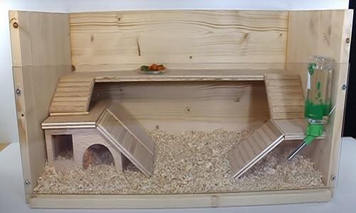 Jaula para hámsters casera de madera